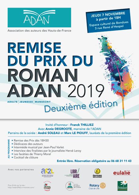 Adan prix du roman 2019 exe affiche remise prix 2019 300x420mm rvb hd