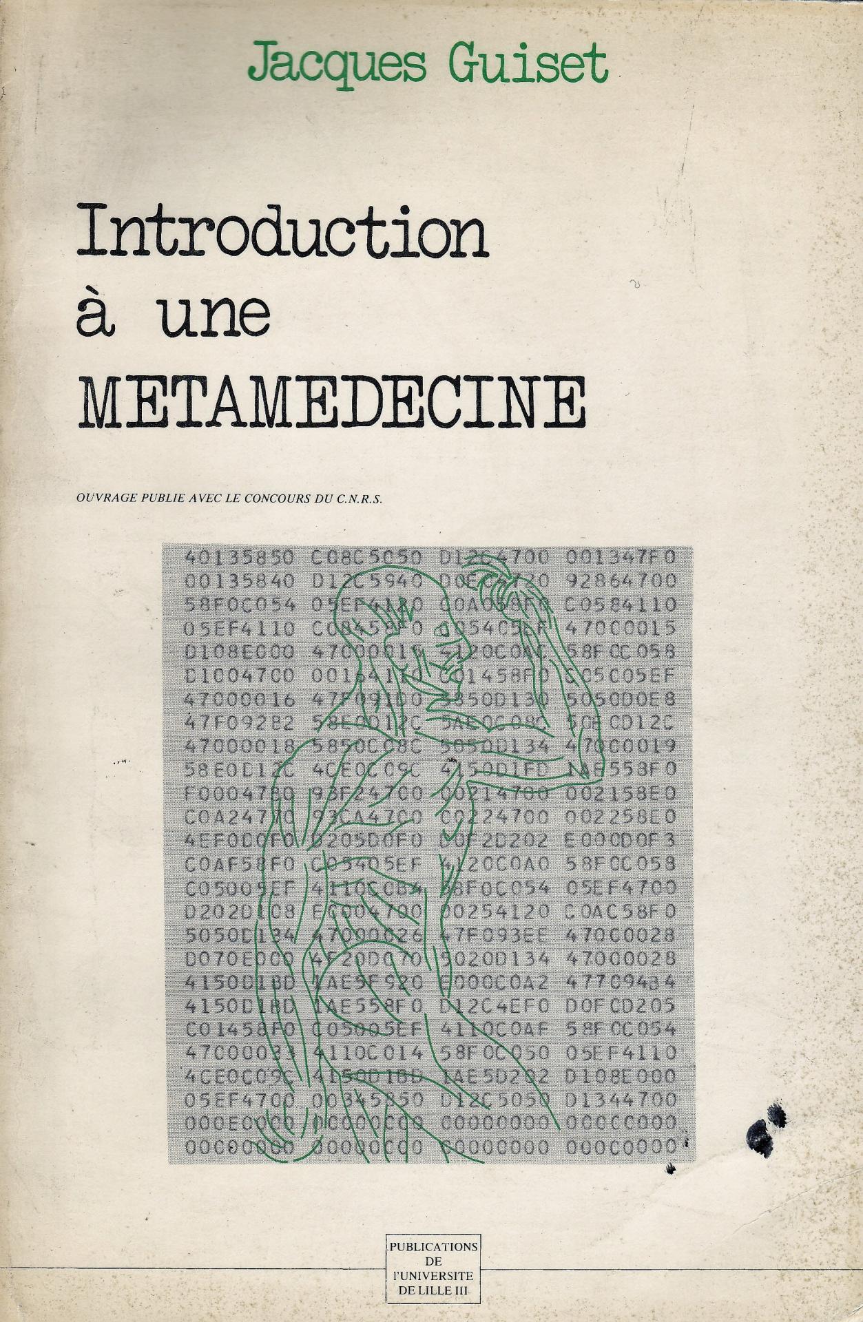 Guiset jacques introduction a une metamedecine une de couv